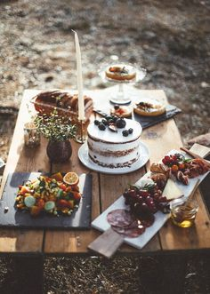 A perfectly displayed spread for a afternoon tea party this Autumn.