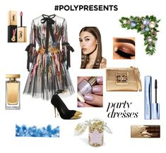 """""""#PolyPresents: Party Dresses"""" by malishevan ❤ liked on Polyvore featuring Elie Saab, Dolce&Gabbana, Too Faced Cosmetics, Yves Saint Laurent, Estée Lauder, Forever 21, contestentry and polyPresents"""