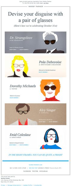 Halloween from Warby Parker - email