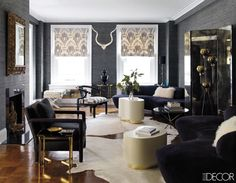 Here's a look into the Manhattan apartment of fashion stylist and interior designer Jackie Astier, as published in Elle Decor. My Living Room, Living Area, Living Spaces, Home Interior, Interior And Exterior, Interior Design, Interior Inspiration, Room Inspiration, Manhattan Apartment