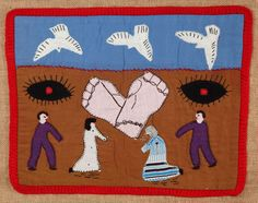 Other works, most of it borrowed from activist groups, include an example of Chilean textile storytelling. Courtesy of Martin Melaug Read more at http://www.wallpaper.com/art/art-and-protest-collide-at-the-vas-new-disobedient-objects-show/7707#Ft3Gf159JTefxC83.99