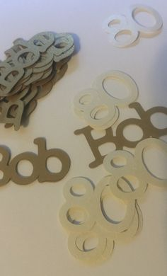 80th Birthday Decorations Personalized Table Confetti by FromBeths
