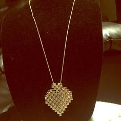 Long heart necklace Brand new Accessories