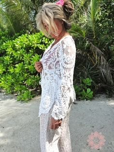Lace Gypsy Amelie Cardigan...comes in Black, Cream and White. $59 at Sea Gypsy.