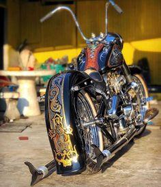 Harley Davidson Chopper, Harley Davidson Motorcycles, Custom Motorcycles, Kawasaki Motorcycles, Vespa Scooter, Custom Motorcycle Paint Jobs, Custom Street Bikes, Custom Bikes, Bobber Bikes