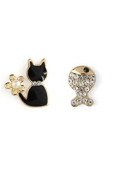 Cat Fish Earring Set