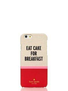 eat cake for breakfast iphone 6 case - kate spade new york