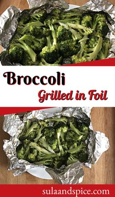 Grilled broccoli tastes both roasted and steamed, with a bit of that smokey essence that can only come from a BBQ grill. Delightful! #grilledbroccoli #healthybroccoli #grillingideas #foilpacketsforthegrill