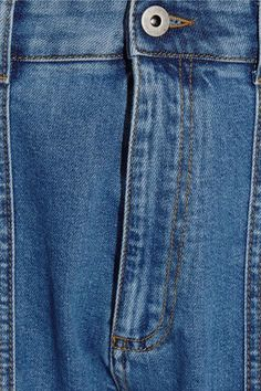 Stella McCartney - Xenia Cotton Blend-paneled High-rise Tapered Jeans - Mid denim -