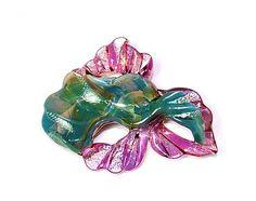Freeform Lampwork Glass Focal Bead-Mermaids Delight