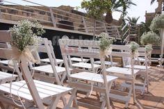 Decoración sillas boda gypsopila