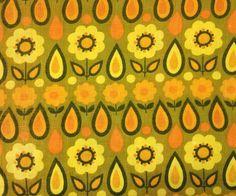 Vintage barkcloth fabric 1970s