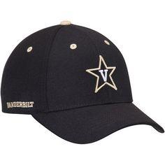 c565af4e458 Men s Top of the World Black Vanderbilt Commodores Triple Threat Adjustable  Hat