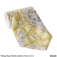 Vintage Map of Berlin (1846) Neck Tie