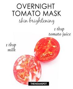 "Overnight green tea mask – skin clearing : Face mask works wonders in beautifying your skin but people are so busy these days that they don't get time to try these DIY face masks. Well for all those lazy and busy people, there are ""sleeping beauty masks"" Acne Face Mask, Diy Face Mask, Diy Overnight Face Mask, Tomato Mask, Clear Skin Tips, Homemade Face Masks, Skin Brightening, Homemade Beauty, Glowing Skin"
