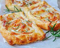 Sfogliatine veloci con patate pancetta e rosmarino