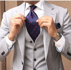 I need a light gray suit for the summer