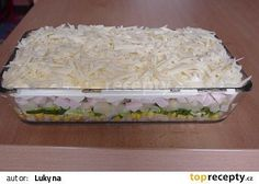 Vrstvený salát recept - TopRecepty.cz Macaroni And Cheese, Grains, Food And Drink, Rice, Ethnic Recipes, Kitchen, Straws, Diet, Mac And Cheese