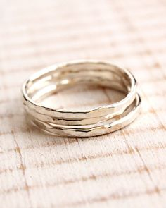 Woobie Beans Blog: My First Jewelry Tutorial - Making Stacked Rings