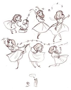 Trendy ideas for dancing girl illustration character design cartoon Character Design Cartoon, Character Design References, Character Drawing, Character Design Inspiration, Character Sketches, Character Design Tutorial, Character Poses, Illustrations, Book Illustration