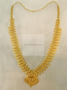 Necklaces / Harams - Gold Jewellery Necklaces / Harams at USD Gold Earrings Designs, Gold Jewellery Design, Necklace Designs, Gold Designs, Wholesale Gold Jewelry, Silver Jewellery Indian, Silver Jewelry, Silver Ring, Kerala Jewellery