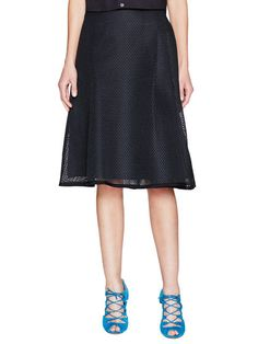 Side Pleat Mesh Midi Skirt by Sea at Gilt