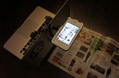 Scan magazine by iPhone/TurtleJacket Light with Gorilla Pod. Magazine, Iphone, Magazines, Warehouse, Newspaper