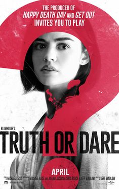 TRUTH OR DARE movie review starring #LucyHale, #TylerPosey, #ViolettBeane, and #NolanGerardFunk!    #truthordare #horror #horrormovie #horrormovies #scary #movies #moviereview #movie #moviescene #omg #moviestv #movienight #moviereviews #film #filmisnotdead #filmmakers #filmmaking #cinema #netflix #netflixandchill #movieposters2 #moviestar #moviescene #moviestars #movienight #moviepass #cinephile #cinephilecommunity #hollywood #actress #classic