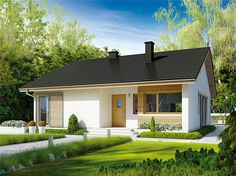 Village House Design, Village Houses, Simple House Plans, House Floor Plans, Rural House, My House, Metal Barn Homes, Cottage Porch, Tuscan House