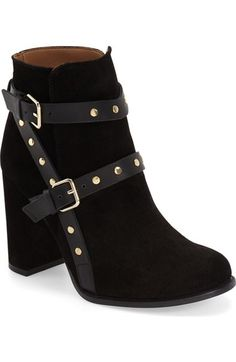 Topshop 'Harriett' Stud Strap Boot (Women) available at #Nordstrom