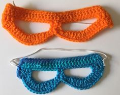 Small and large crochet super hero masks. Easy and stays out of their eyes!