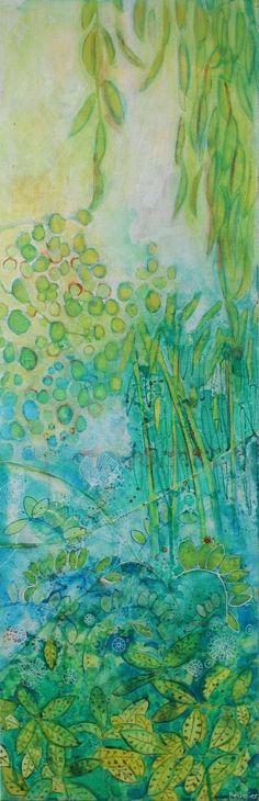 """Saatchi Art Artist Sandrine Pelissier; Painting, """"Luxuriance"""" #art"""