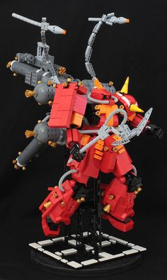 LEGO model of Psycho Zaku from Gundam Thunderbolt