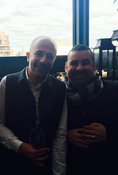 """Laurent Philippon, Creative Director of Bumble and bumble, & David Kafer, Master Stylist/Co-Owner of RED 7 SALON, - two peas in a """"hairdresser"""" pod!"""