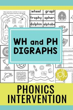 Digraphs activities - An entire packet full of activities to practice the tricky WH and PH digraphs! The hands-on materials offer visual support and extra practice in small groups and centers. Extensions include environmental print flashcards and performance assessment tasks. Ideal for RTI and phonics intervention with first graders. #phonicsintervention #digraphcenters