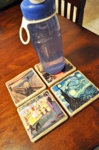 DIY coasters (favors or escort cards?)