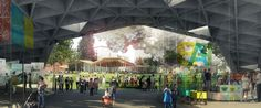 Renderings of four competing designs for the First & Broadway Civic Park in Downtown Los Angeles were presented at a public meeting earlier this week.The four teams competing were led by AECOM, Brooks + Scarpa, Eric Owen Moss, and Mia Lehrer + Associates, with several other firms supporting each lead.The proposed two-acre green space will comprise a full city block of the Civic Center, bounded by 1st Street, Broadway, Spring Street and Grand Park. The currently vacant lot is located almo...