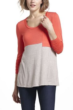 Bordeaux Duo colorblocked top, XS, red
