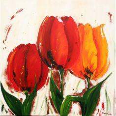 AWX0184 schilderij tulpen 120x120