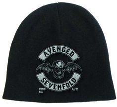 Avenged Sevenfold Deathbat Crest Beanie Hut Cap