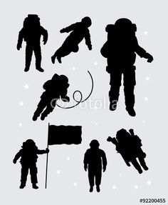 astronaut silhouette vector - Google Search