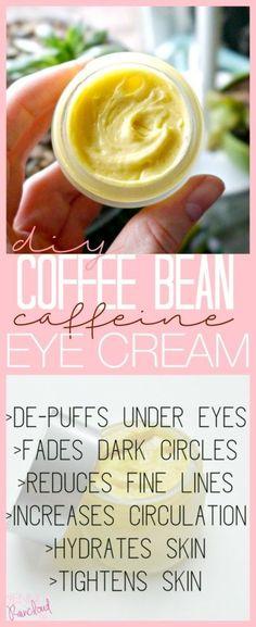 DIY Coffee Bean Eye Cream