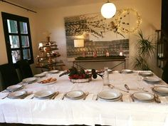 Comida de navidad familiar. Centro de mesa. Kala y chas blogspot.