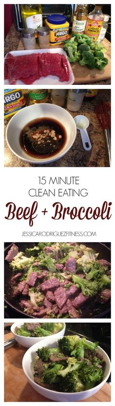 15 Minute Clean Eating Asian Beef and Broccoli (omit oil and corn starch) (can substitute ground venison for round steak) Healthy Eating Recipes, Clean Eating Recipes, Paleo Recipes, Real Food Recipes, Healthy Snacks, Cooking Recipes, Lamb Recipes, Clean Dinners, Asian Beef