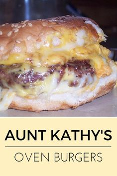 Aunt Kathys Oven Burgers Gooey melted cheese savory special sauce what could be better Beef Dishes, Food Dishes, Main Dishes, Burritos, Oven Burgers, Hamburgers In Oven, Pizza Burgers, Mini Burgers, Turkey Burgers