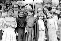 Some of the workers in the Pickett Cotton Mill, High Point, NC, 1912       Some of the youngest workers in Roanoke (Virginia) Cotton Mi...