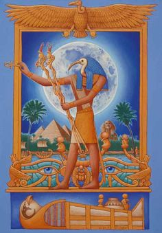Thoth (as bird IBIS) presenting the ANKH--the key of life.  Compares to Asteroid HERMES and possibly  15374 TETA, 5757 TICHA, and/or 2441 HIBBS (ancient Egyptian Ibis). -from Crystalinks