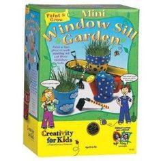 Not only does this set contain pots, mini-tools, and seeds for growing, it also provides paint to decorate the pots! Description from teenymanolo.com. I searched for this on bing.com/images