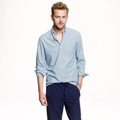 J.Crew - Japanese chambray popover shirt
