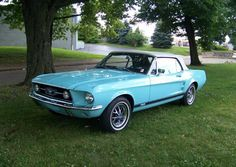 B - Frost Turquoise 1967 Ford Mustang..Re-pin Brought to you by agents at #HouseofInsurance in #EugeneOregon for #CarInsurance
